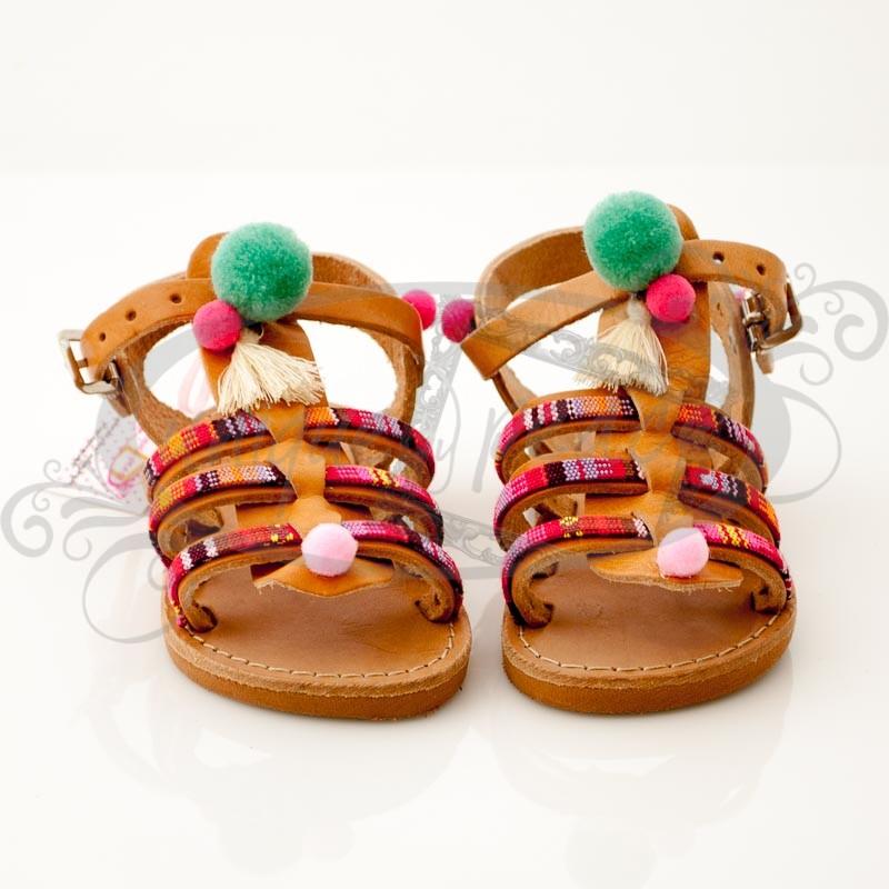 Χειροποίητα παιδικά ΔΕΡΜΑΤΙΝΑ σανδάλια ΕΛΛΗΝΙΚΗΣ ΠΡΟΕΛΕΥΣΗΣ σε Boho style.  Διατίθενται μεγέθη από 20 έως 34 0d853a68cd8